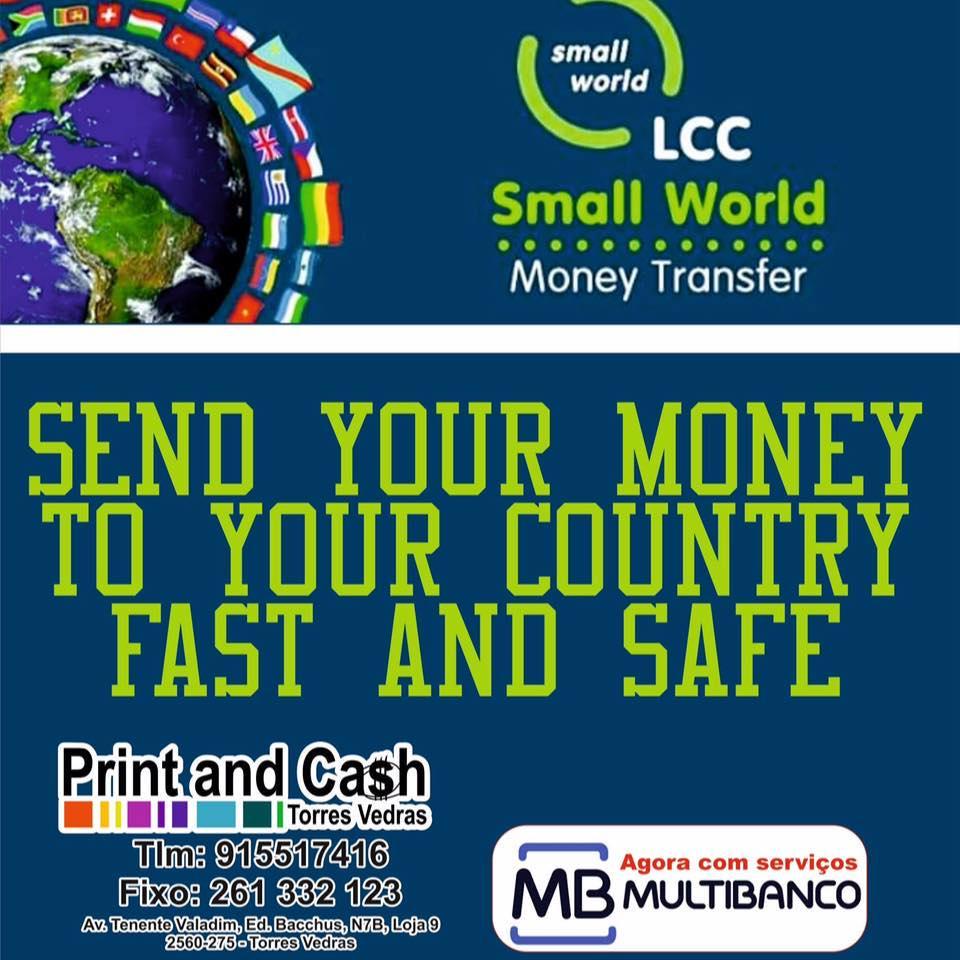 Print and Cash - Uma loja de artigos graficos publicitarios e festas como tambem envio de remaças de dinheiro para todo o mundo